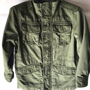 Gap Kids Cargo Olive Jacket with Zipper/Buttons